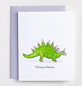 """Partysaurus Maximus"" Greeting Card - E. Frances Paper"
