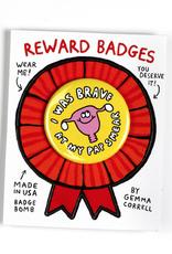"Gemma Correll ""Brave Pap Smear"" Reward Badge by Gemma Correll"