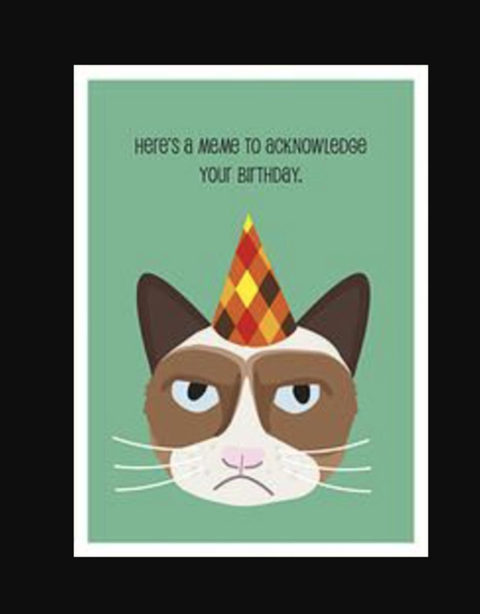 Seltzer Cat Meme Birthday Greeting Card - Seltzer