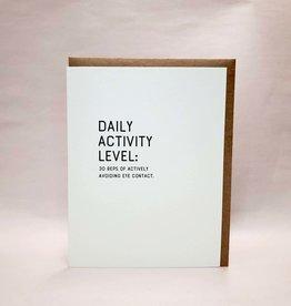 """""""Daily Activity: Eye Contact'' Greeting Card - Sapling Press"""