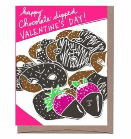 Chocolate Dipped Valentine's Day Greeting Card - Scratch & Sniff by La Familia Green