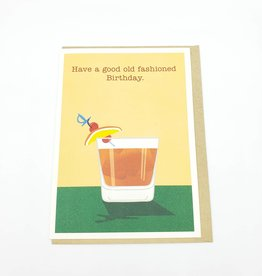 Seltzer Old Fashioned Birthday Greeting Card - Seltzer