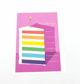 Seltzer Rainbow Cake Birthday Greeting Card - Seltzer