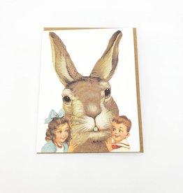 Mincing Mockingbird Easter Bunny Greeting Card - The Mincing Mockingbird