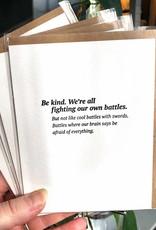 """""""Be Kind'' Greeting Card - Sapling Press"""