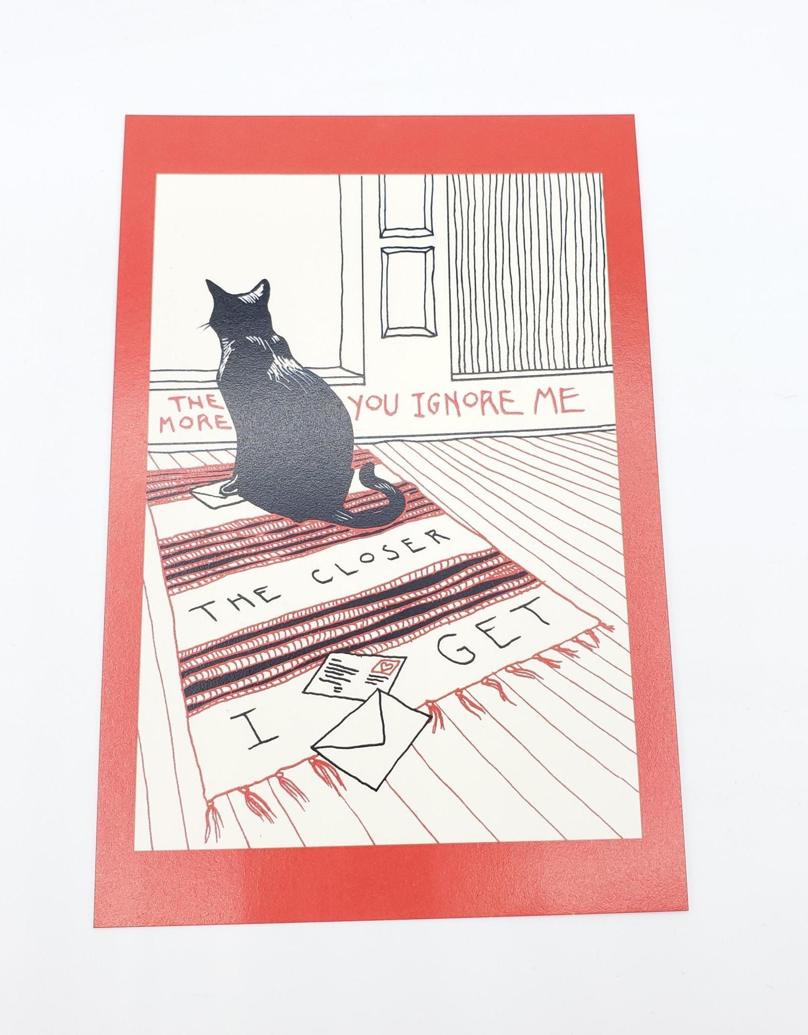 """Closer I Get"" Postcard - Smiths Lyric Valentines - Abacus Corvus"