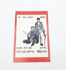 """It's the Bomb"" Postcard - Smiths Lyrics Valentines - Abacus Corvus"