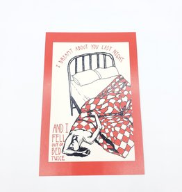"""""""I Dreamt About You"""" Postcard - Smiths Lyrics Valentines - Abacus Corvus"""