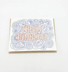 """Treat Yourself"" Greeting Card - The Good Twin"