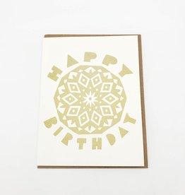 Birthday Mandala Greeting Card - Worthwhile Paper