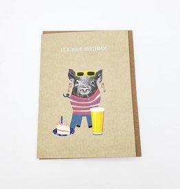 Whole Hog Birthday Greeting Card - Calypso