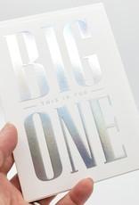 Big One Birthday Greeting Card by Lagom Design