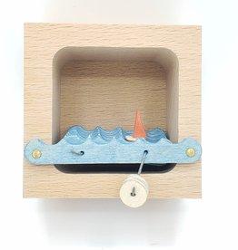 Make Waves Diorama Kinetic Sculpture, Natural
