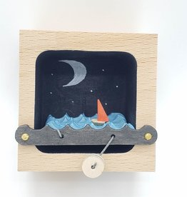 Make Waves Diorama Kinetic Sculpture, Night Sky