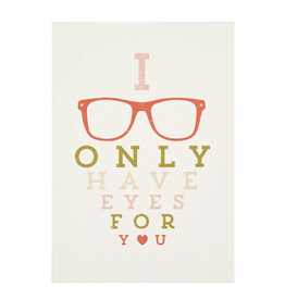 Eyes For You Valentines Greeting Card - Calypso