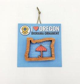 I Love Oregon Diorama Ornament - 20 Leagues