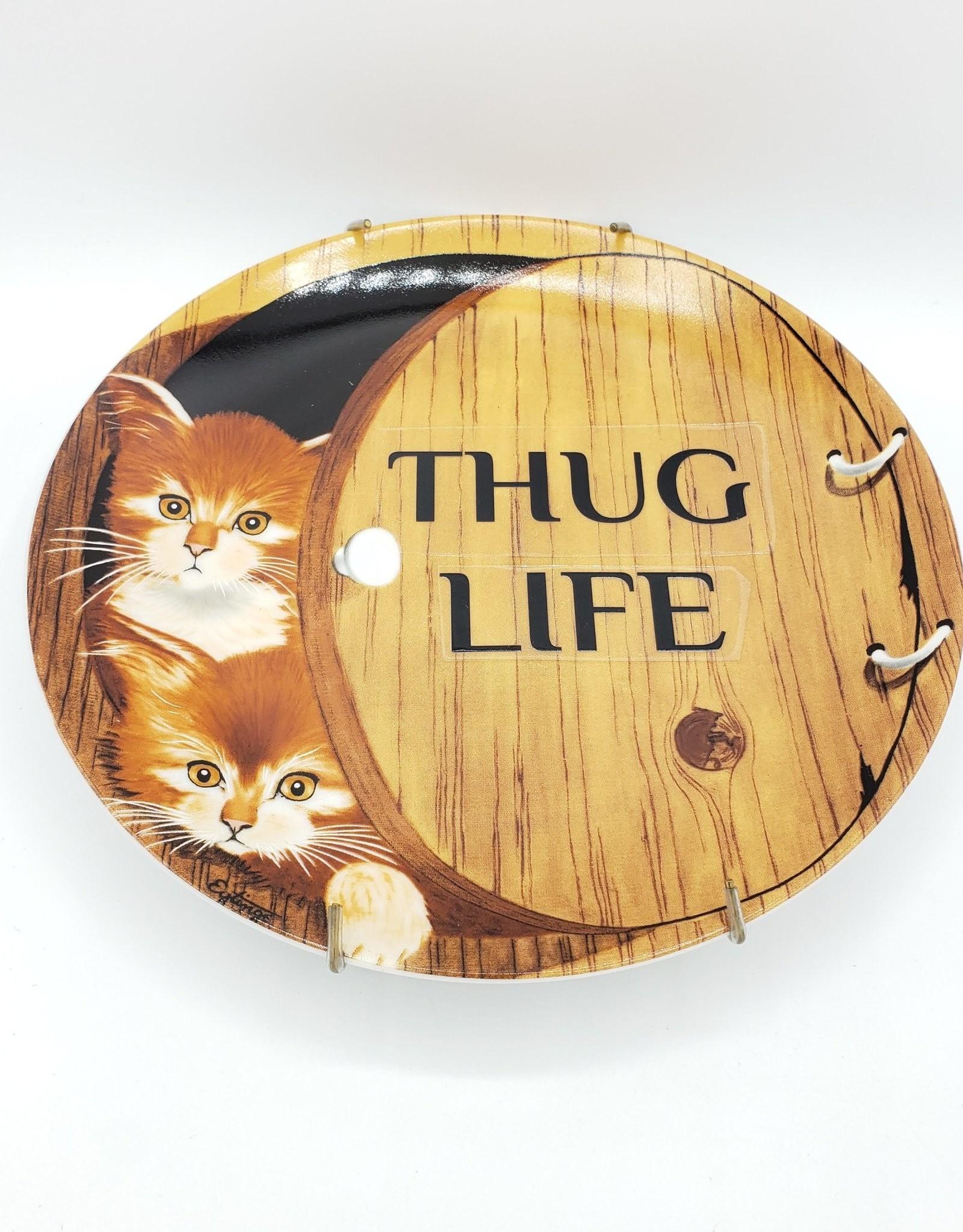 "Redux ""Thug Life"" - Vintage Upcycled Plate Art"
