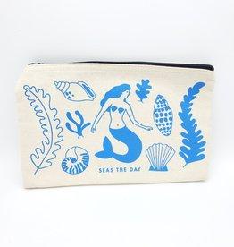 Seltzer Seas the Day Mermaid Zipper Pouch - Seltzer