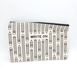 "Seltzer ""Write On"" Zippered Pencil Pouch - Seltzer"