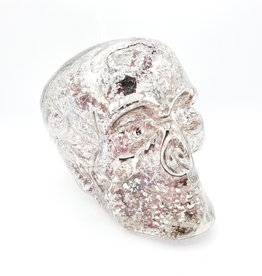 Skull, Blown Mercury Glass