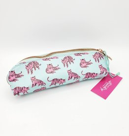 Ohh Deer Pink Tigers Jungle Skinny Pencil Case