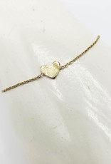 ''Sealed with a Kiss'' Heart Bracelet