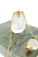 Faceted Polished Quartz Perfume Bottle