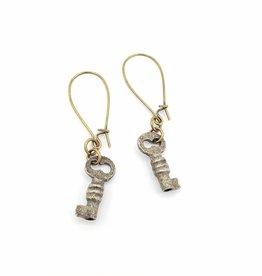 Redux Tiny Skeleton Key Earrings