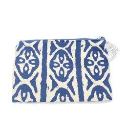 Indigo Batik Pattern Zipper Bag