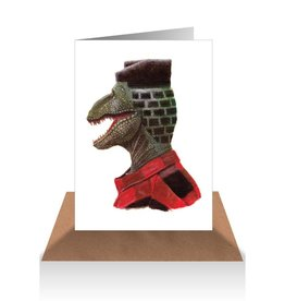 Dino Bricks Cut Greeting Card - AHD