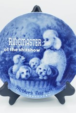 """Redux """"Ringmaster of the Shitshow"""" - Vintage Upcycled Plate Art"""