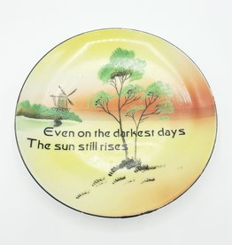 "Redux ""The Sun Still Rises"" - Vintage Upcycled Plate Art"