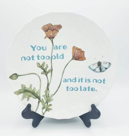 "Redux ""It's Not Too Late"" - Vintage Upcycled Plate Art"