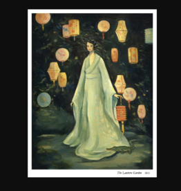 The Black Apple Lantern Garden Greeting Card - The Black Apple