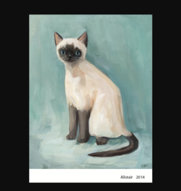 The Black Apple Alistar Siamese Cat Greeting Card - The Black Apple