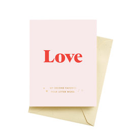 "Seltzer ""Love'' Greeting Card - Seltzer"