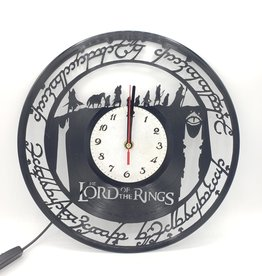 """Lord of the Rings"" Upcycled Vinyl Record Clock with LED Backlight"