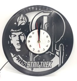 """Star Trek"" Upcycled Vinyl Record Clock with LED Backlight"