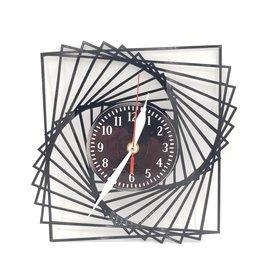 Optical Illusion Upcycled Vinyl Record Clock