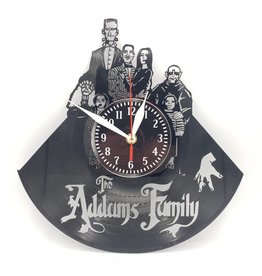 Addams Family Upcycled Vinyl Record Clock