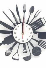 Chef's Kitchen Upcycled Vinyl Record Clock