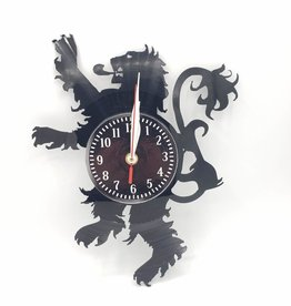 Lion Crest Upcycled Vinyl Record Clock