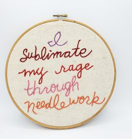 "Redux ""Sublimate My Rage"" Embroidered Hoop, LG"
