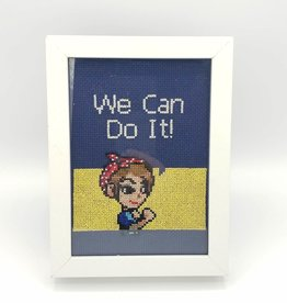 Redux Rosie the Riveter - Cross Stitch Wall Art