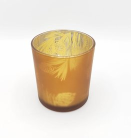 Pine Cone Votive Tea Light Holder, Amber Glass