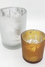 Pine Cone Votive Tea Light Holder, Silver Glass