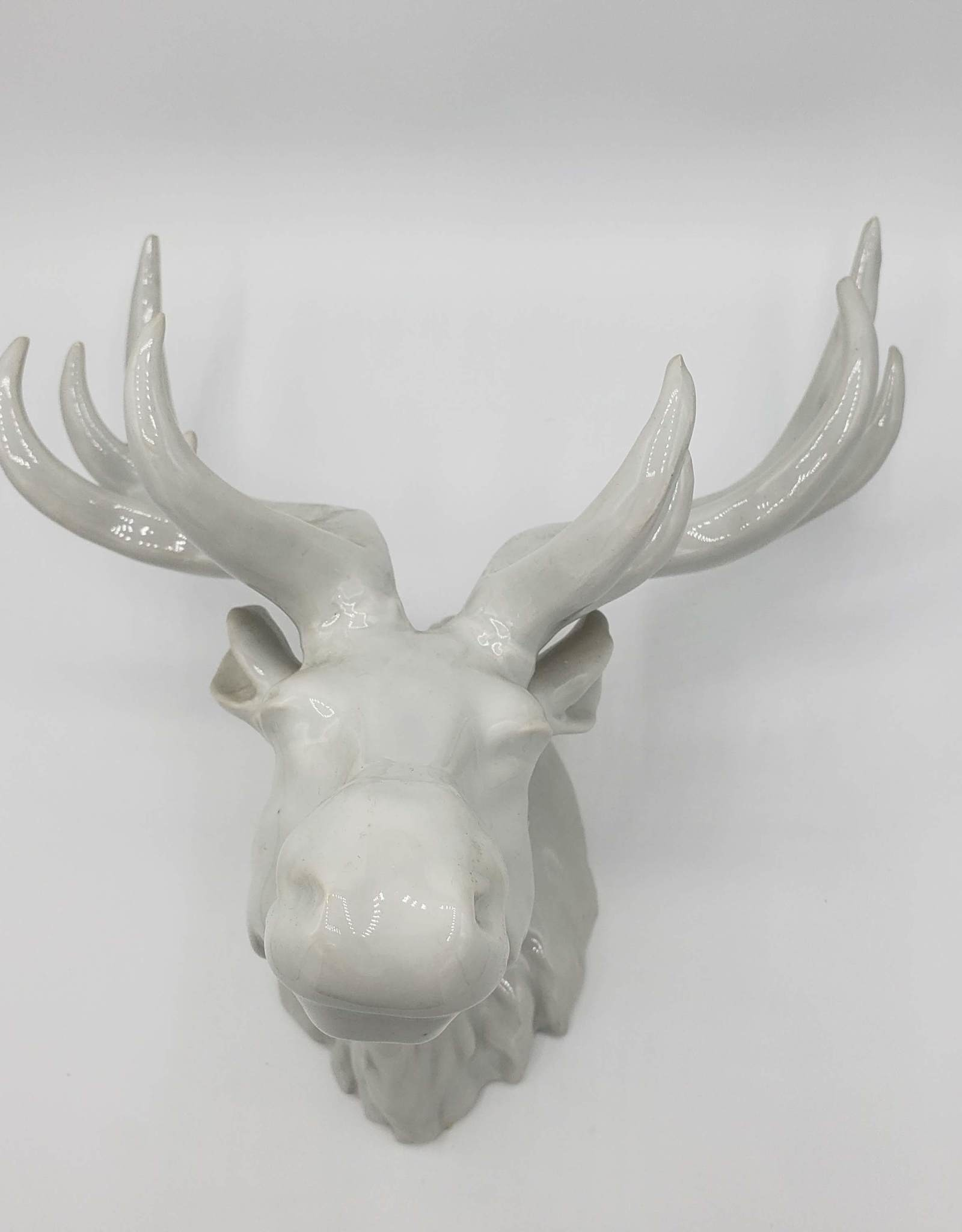 Elk Trophy Head Porcelain
