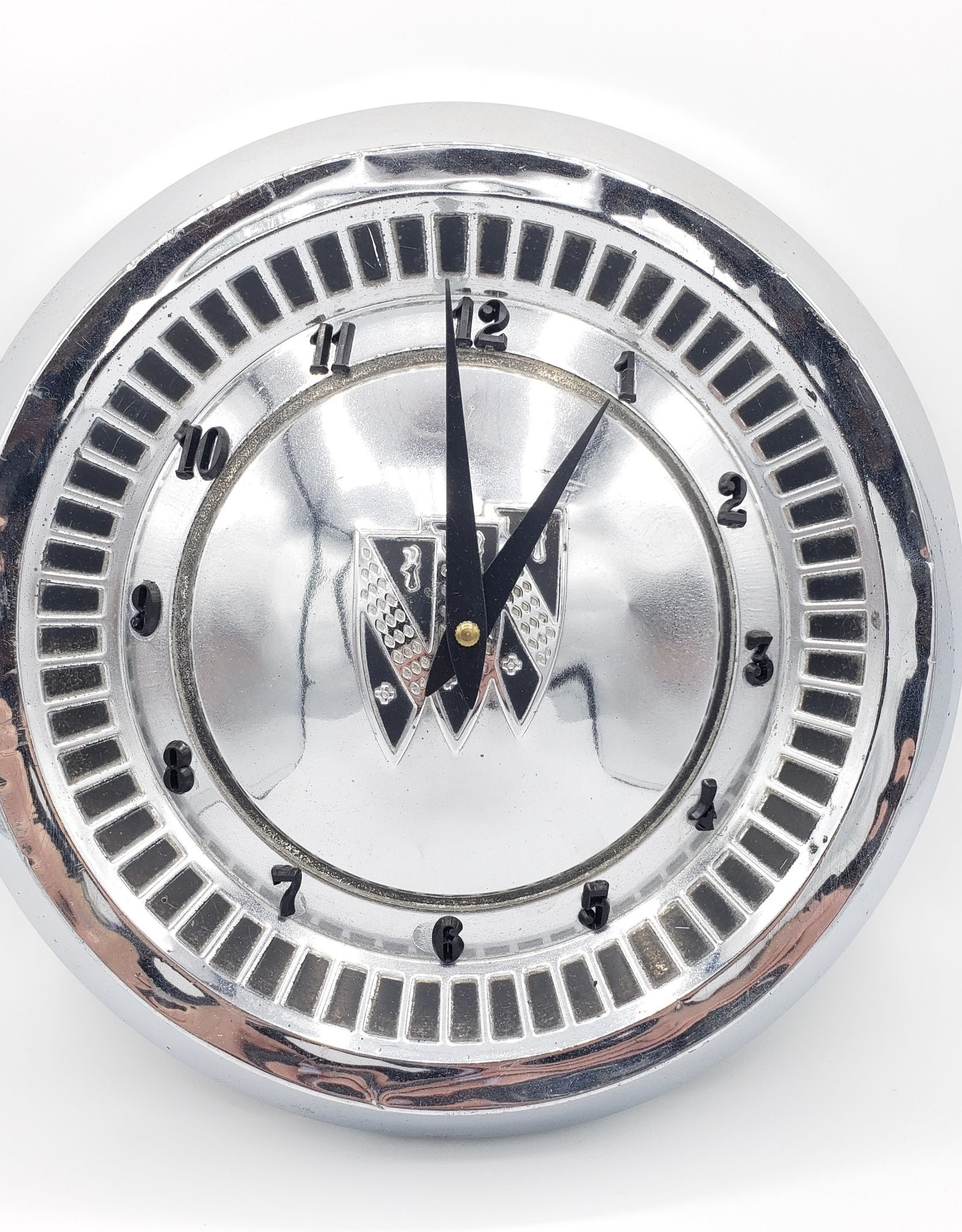 Redux Upcycled Hubcap Wall Clock