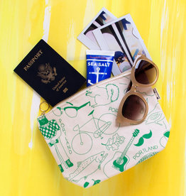 Maptote LG Zippered Makeup Pouch