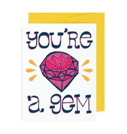 "Allison Cole ""You're a Gem"" Love Greeting Card - Allison Cole"